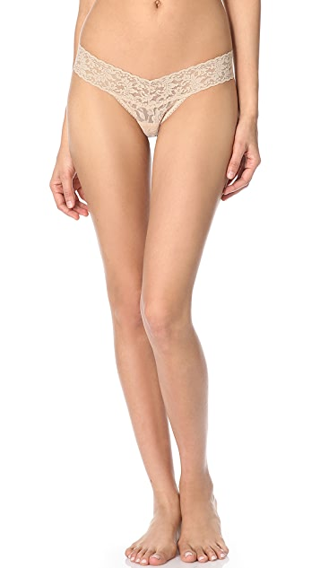 Hanky Panky 3 Pack Signature Lace Low Rise Thong