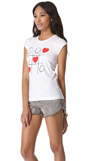 Happiness Tic Tac Toe Hearts Tee