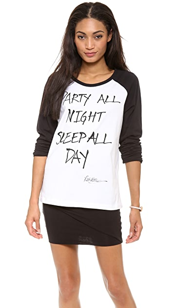 Happiness Party All Night & Sleep All Day Tee
