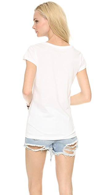 Happiness Jewel Neck Printed Tee