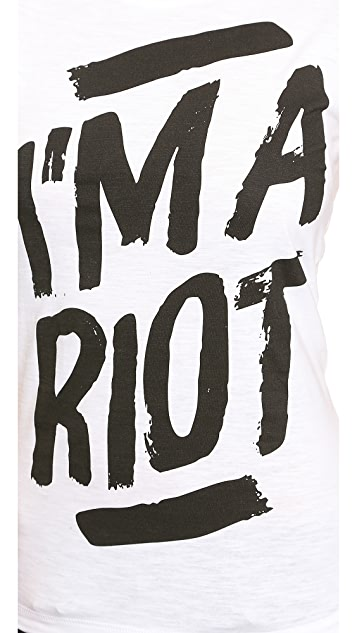 Happiness I'm A Riot Tee