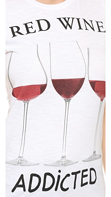Happiness Red Wine Addicted Tee