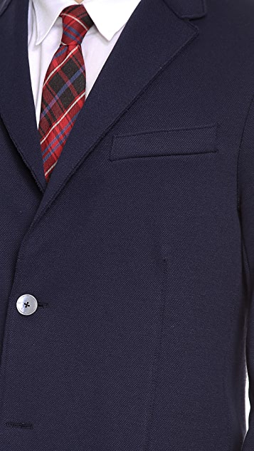 Harris Wharf London 2 Button Blazer with Elbow Patch