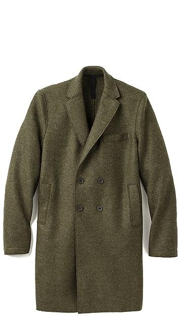 Harris Wharf London Pressed Wool Long Coat