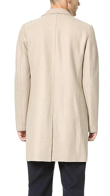 Harris Wharf London 3 Button Pressed Wool Boxy Coat