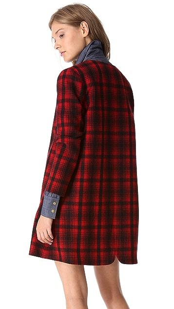 Harvey Faircloth A Line Plaid Jacket