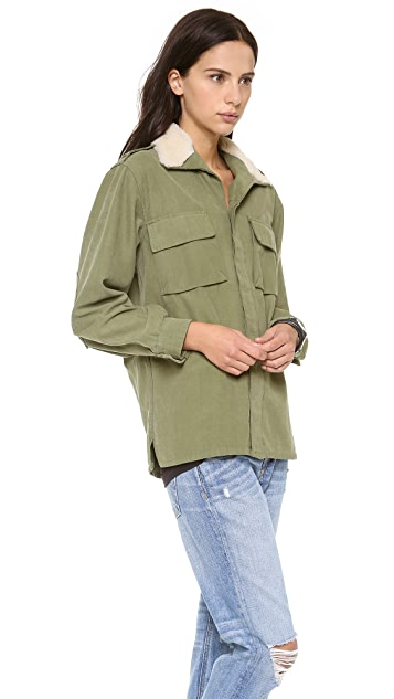 Harvey Faircloth Shearling Collar Jacket