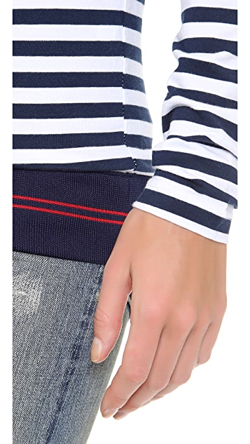 Harvey Faircloth Striped Top