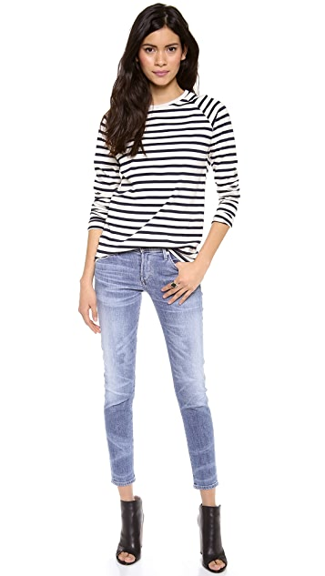 Harvey Faircloth Sailor Stripe Boyfriend Tee