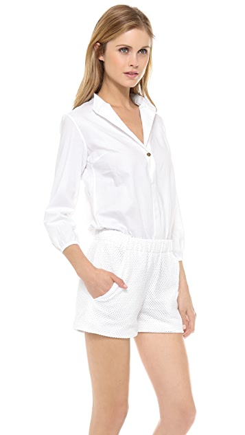 Harvey Faircloth Mandarin Collar Romper