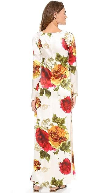 Harvey Faircloth Raglan Sleeve Maxi Dress