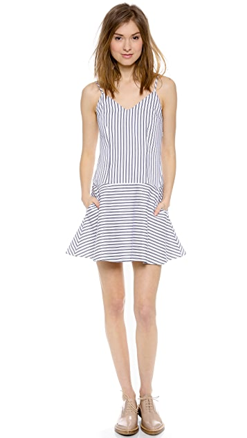 Harvey Faircloth Striped Cami Dress