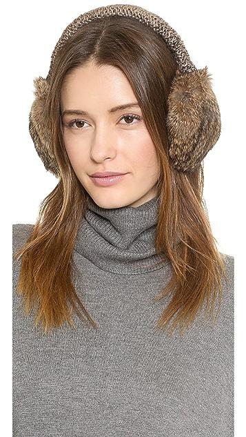 Hat Attack Knit & Rabbit Earmuffs
