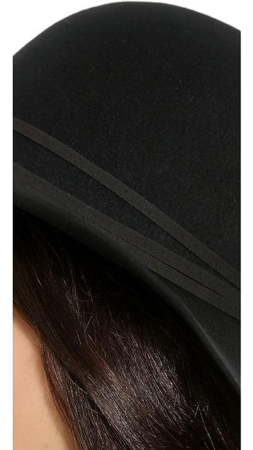 Hat Attack Wool Felt Round Crown Floppy Hat