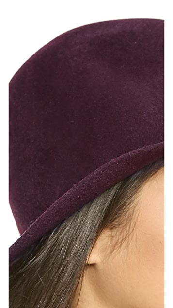 Hat Attack Velour Downward Brim Hat