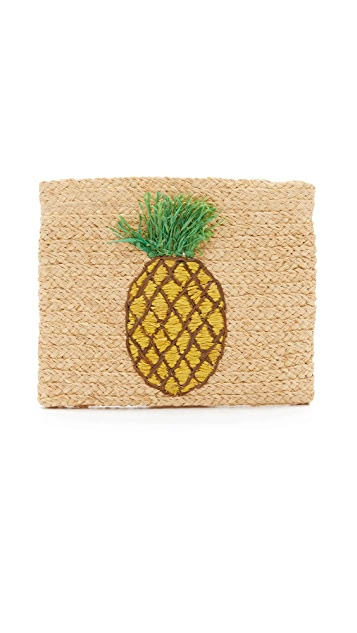 Hat Attack Pineapple Clutch