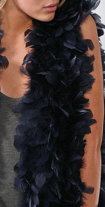 Haute Hippie Elongated Feather Vest