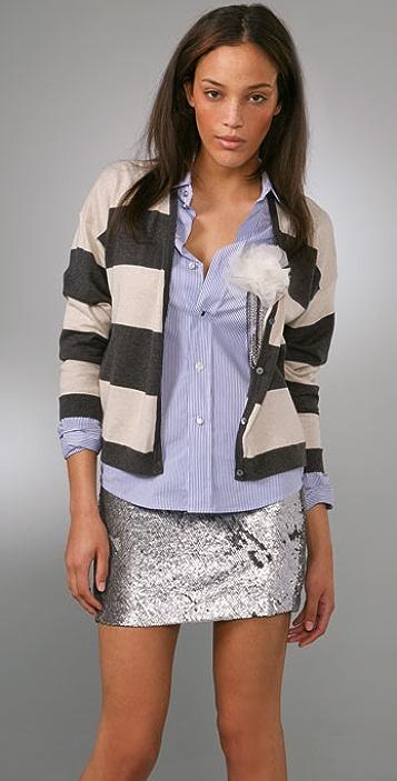 Haute Hippie Striped Cardigan