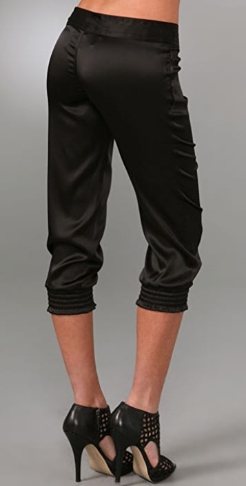 Haute Hippie Silk Drawstring Pants