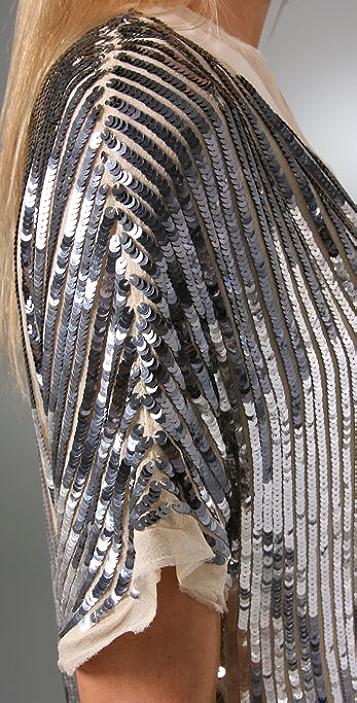 Haute Hippie Flapper V Neck Sequin Dress