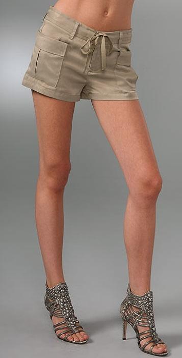 Haute Hippie Drapey Cargo Shorts
