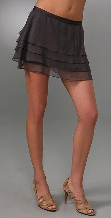Haute Hippie Ruffle Miniskirt