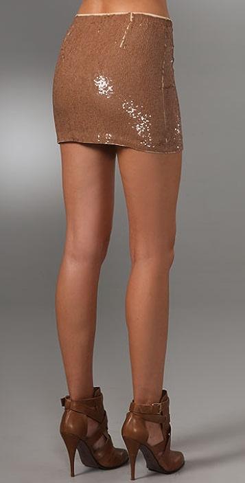 Haute Hippie Sequin Miniskirt