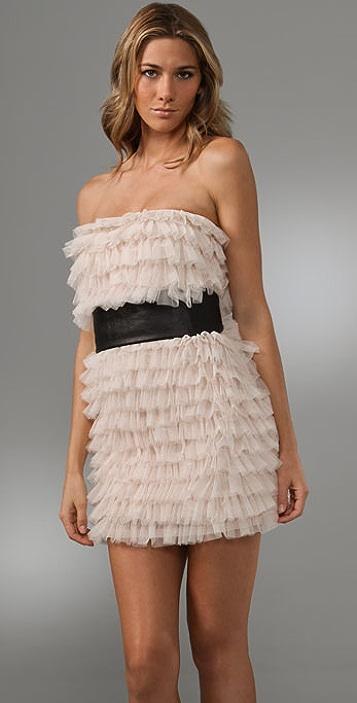 Haute Hippie Tiered Ruffle Dress