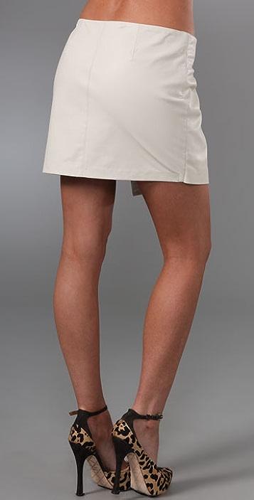 Haute Hippie Wrap Leather Miniskirt