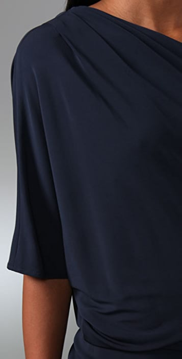 Haute Hippie Shirred Asymmetrical Dress