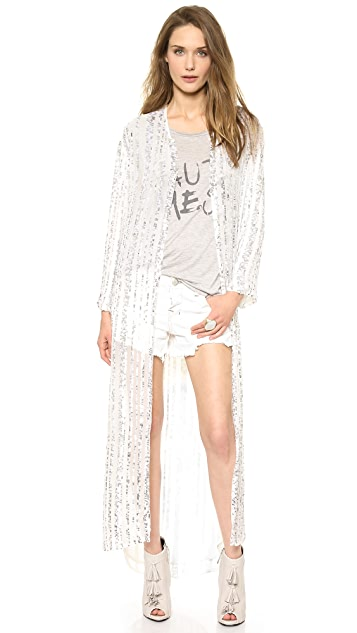 Haute Hippie Long Sequined Cloak