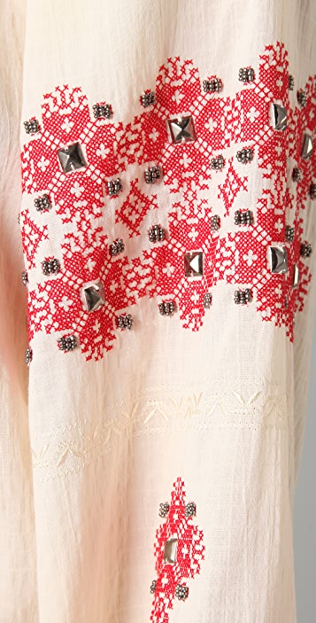 Haute Hippie Embroidered Gypsy Blouse
