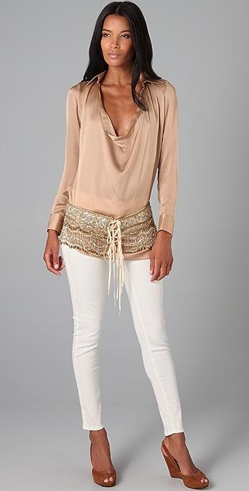 Haute Hippie Silk Tunic Blouse