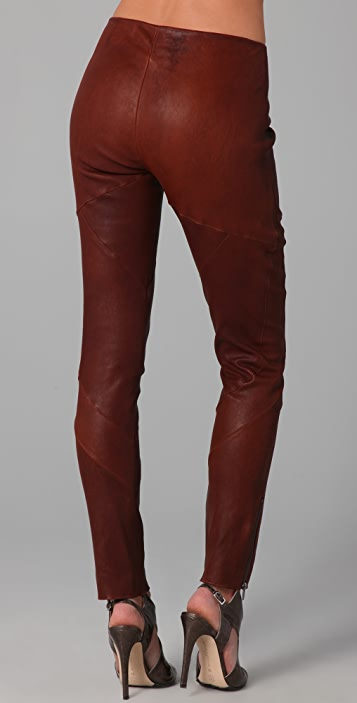Haute Hippie Skinny Stretch Leather Pants