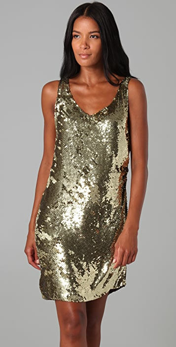 Haute Hippie Bias Sequin Mini Dress