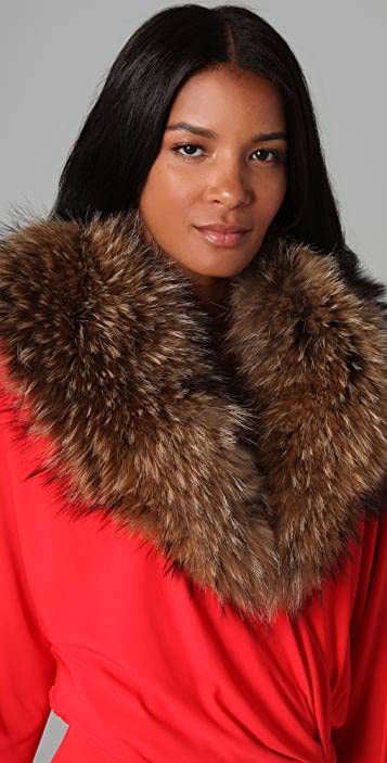 Haute Hippie Raccoon Fur Collar
