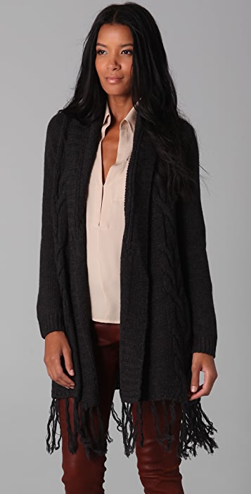Haute Hippie Luxe Cardigan with Fringe