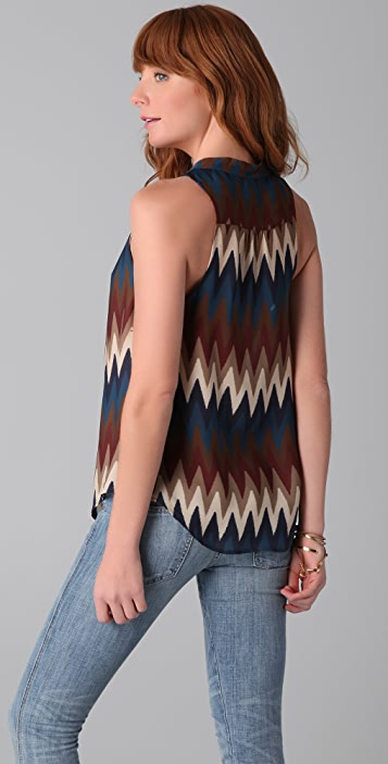 Haute Hippie Come Sail Away Cowl Blouse
