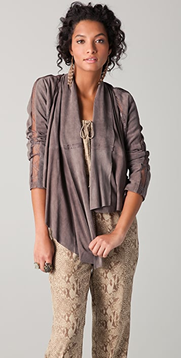 Haute Hippie Lace Suede Jacket