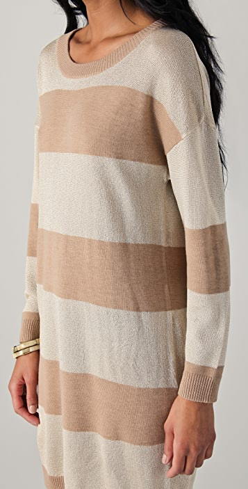 Haute Hippie Striped Sweater Dress