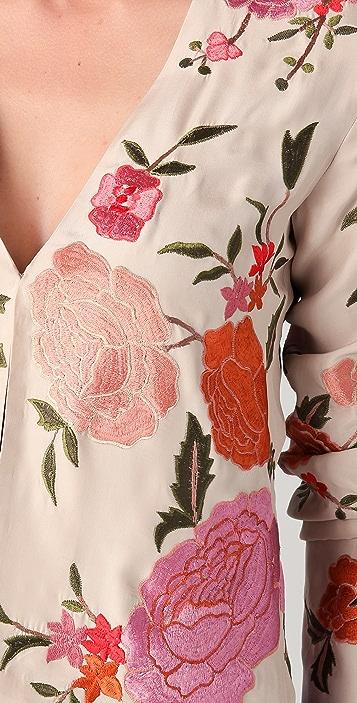 Haute Hippie Floral Threadwork Jacket