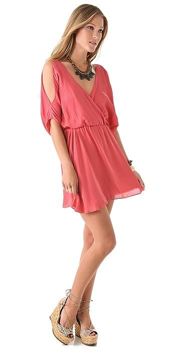 Haute Hippie Cold Shoulder Dress