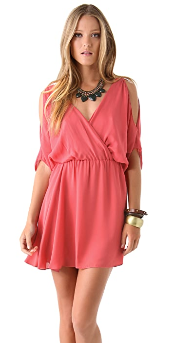 Haute Hippie Cold Shoulder Dress
