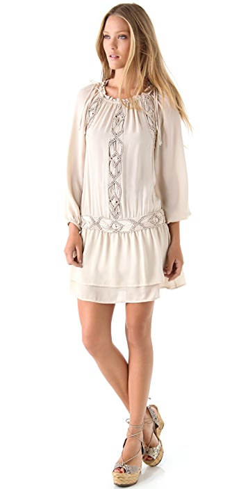 Haute Hippie Embellished Peasant Dress