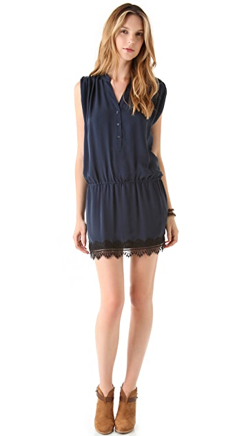 Haute Hippie Drop Waist Motif Hem Dress