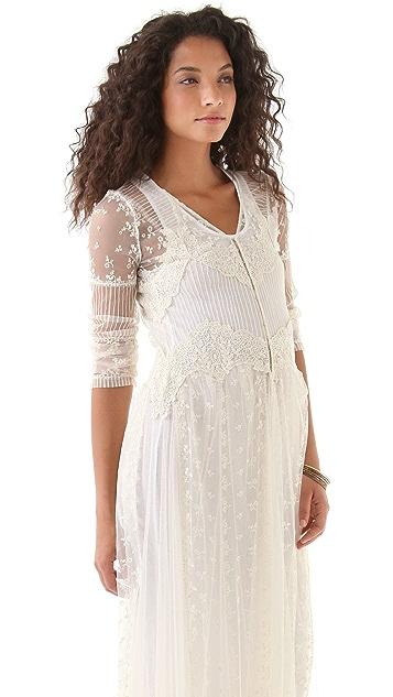 Haute Hippie Long Lace Dress