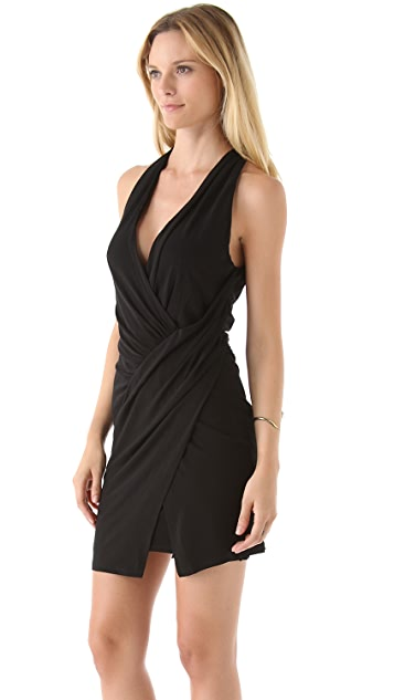 Haute Hippie Asymmetrical Draped Dress