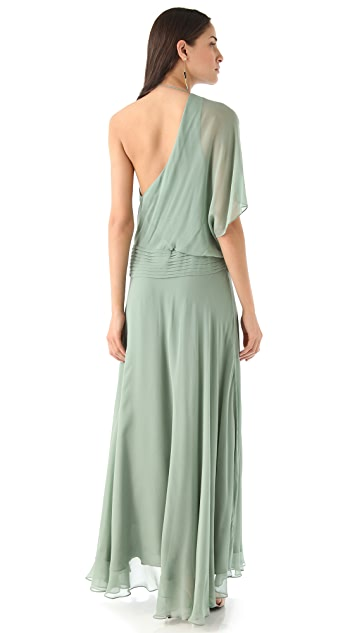 Haute Hippie One Sleeve Draped Gown