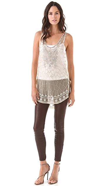 Haute Hippie Embellished Tunic
