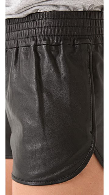 Haute Hippie Leather Boxing Shorts